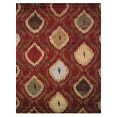 Inspiration Red Area Rug Rug Size: Runner 2 x 8