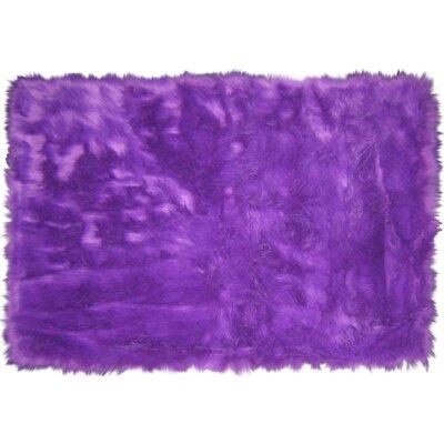 Flokati Purple Area Rug Rug Size: 33 x 410
