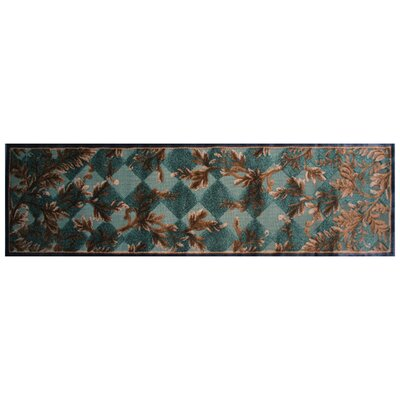 Blue/Rust Area Rug Rug Size: Runner 2 x 8