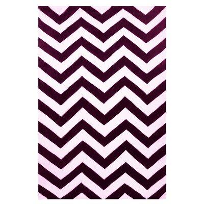 Capri Purple/White Area Rug