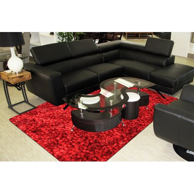 Super Shag Red Area Rug Rug Size: Runner 2 x 8