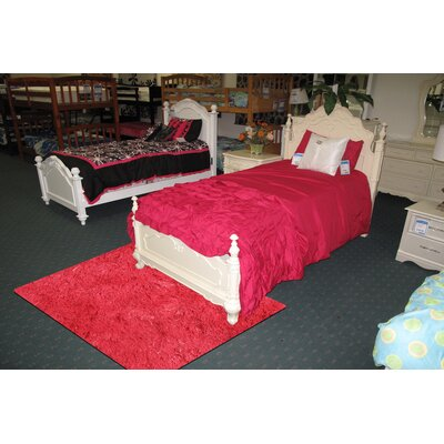 Silky Shag Red Indoor Area Rug Rug Size: 39 x 58