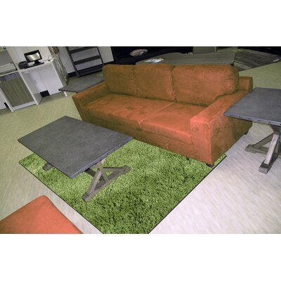 Silky Shag Green Indoor Area Rug Rug Size: Rectangle 5 x 73