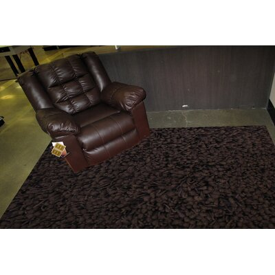Shag Plus Dark Brown Indoor Area Rug Rug Size: Round 5