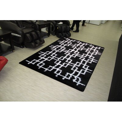 Touch Black/White Indoor Area Rug Rug Size: 8 x 11
