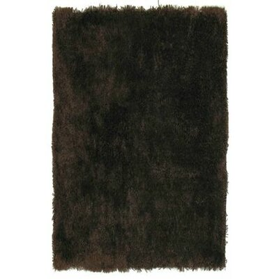 Super Shag Brown Area Rug Rug Size: 5 x 8