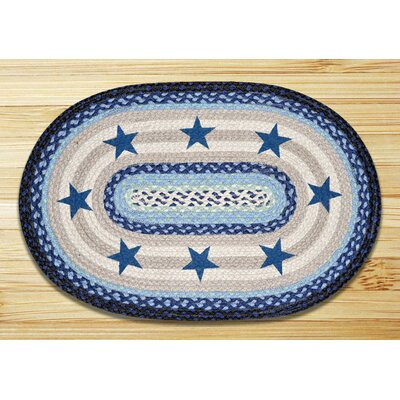 Blue Stars Printed Area Rug