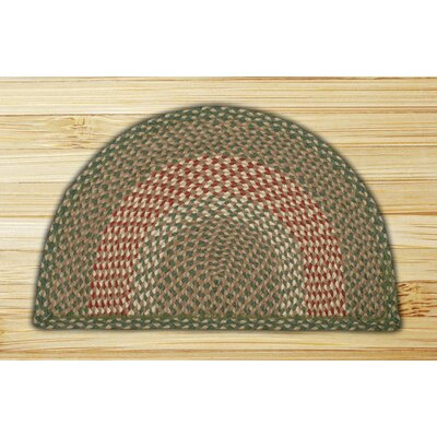 Braided Green/Burgundy Area Rug Rug Size: Slice 1'6 x 2'5