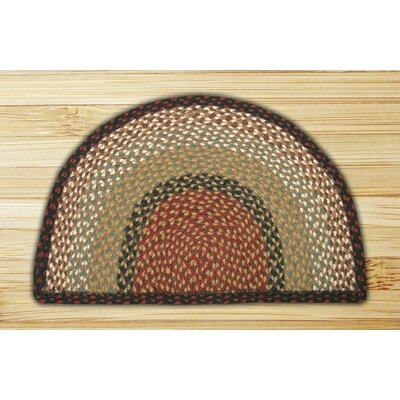 Braided Burgundy/Mustard Area Rug Rug Size: Semi-Circle 1'6