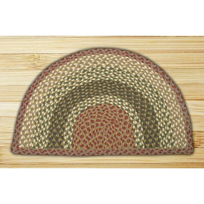 Braided Olive/Burgundy Area Rug Rug Size: Semi-Circle 16 x 25