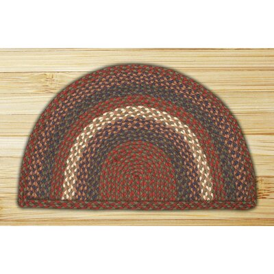 Braided Burgundy/Gray Area Rug Rug Size: Semi-Circle 16 x 25