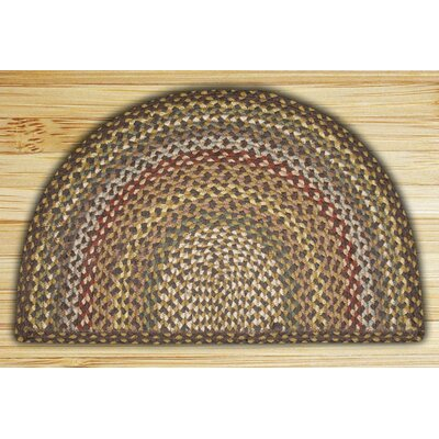 Hand-Woven Brown/Gray Area Rug Rug Size: Semi-Circle 16 x 25