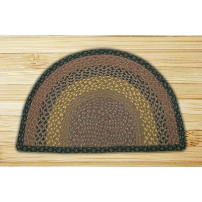 Braided Brown/Black Area Rug Rug Size: Semi-Circle 16 x 25