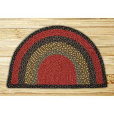 Braided Bugundy/Olive Area Rug Rug Size: Slice 16 x 25