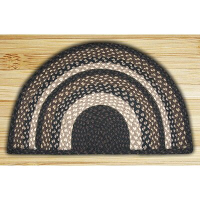 Braided Mocha/Frappuccino Area Rug Rug Size: Semi-Circle 16 x 25
