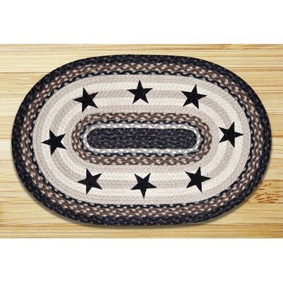 Black Stars Printed Area Rug