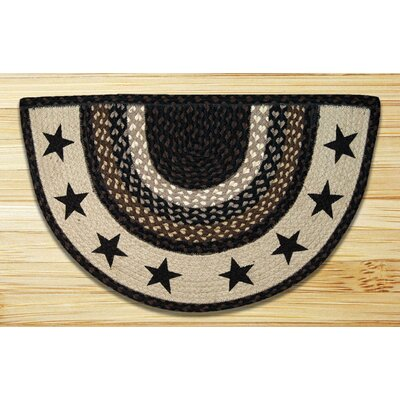 Black Stars Printed Slice Rug