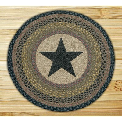 Black Star Printed Area Rug
