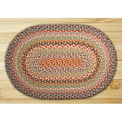 Multi 1 Braided Area Rug Rug Size: Oval 23 x 39