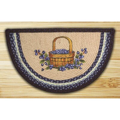 Blueberry Basket Printed Slice Rug