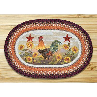 Morning Rooster Printed Area Rug