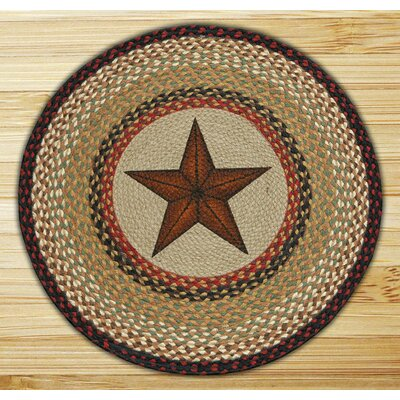 Barn Star Printed Area Rug