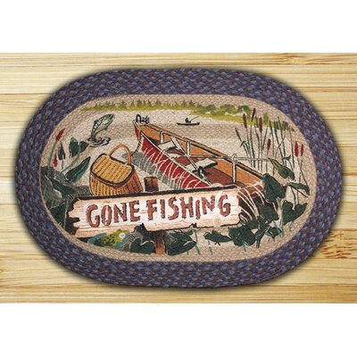 Gone Fishing Printed Area Rug