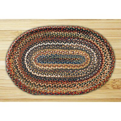 Random Braided Area Rug Rug Size: Oval 3 x 5