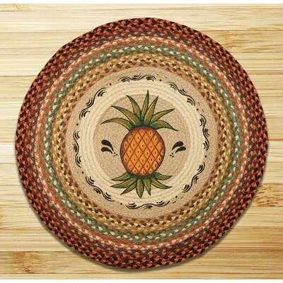 Pineapple Printed Area Rug