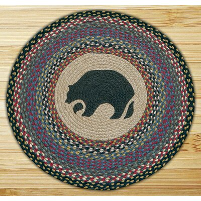 Black Bear Printed Area Rug
