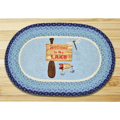 Welcome to the Lake Printed Area Rug