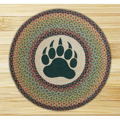 Bear Paw Printed Area Rug