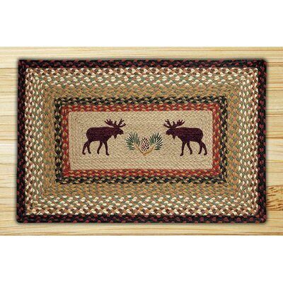 Moose Rectangle Tan Patch Area Rug