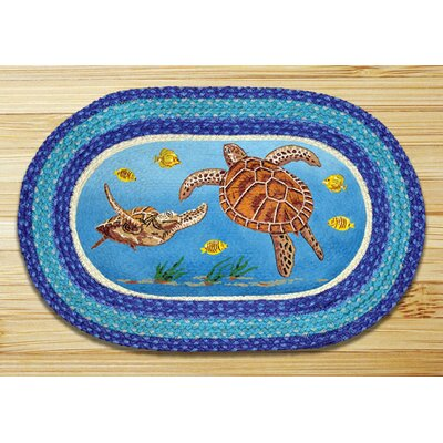 Sea Turtle Printed Area Rug