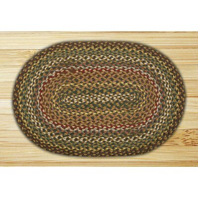 Fir/Ivory Braided Area Rug