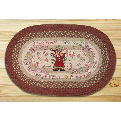 Gingerbread Santa Printed Area Rug