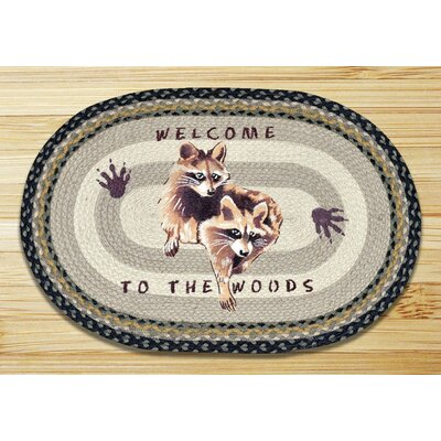 Raccoon Welcome Printed Area Rug