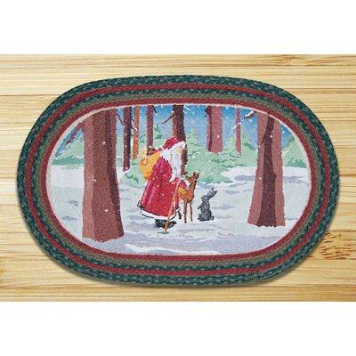 Father Christmas Printed Area Rug