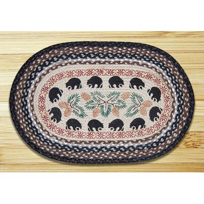 Black Bears Printed Area Rug