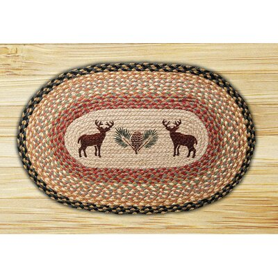 Deer/Pinecone Printed Area Rug