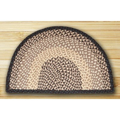 Braided Chocolate/Natural Area Rug Rug Size: Slice 1'6 x 2'5
