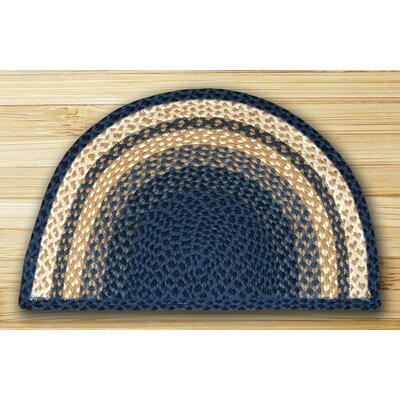 Braided Blue Area Rug Rug Size: Semi-Circle 16 x 25