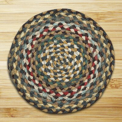 Round Braided Fir/Ivory Area Rug