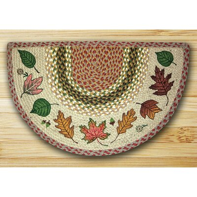 Autumn Leaves Tan Area Rug Rug Size: Slice 16 x 25