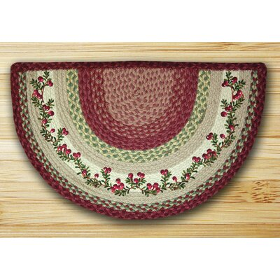 Cranberries Printed Red Slice Area Rug