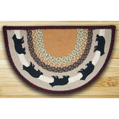 Cabin Bear Printed Multi Slice Area Rug