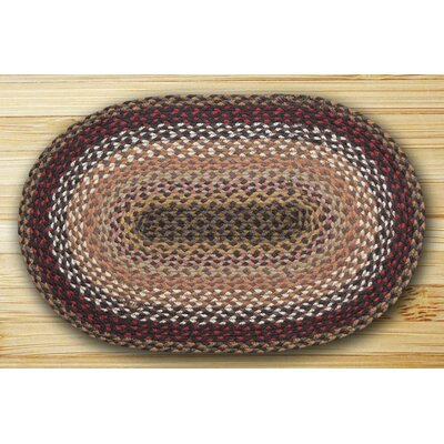Oval Braided Brick/Clay Area Rug Rug Size: Oval 18 x 26