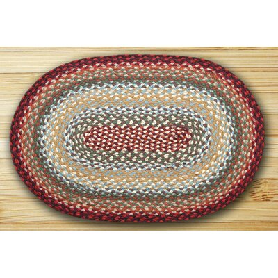Thistle Oval Braided Green Area Rug Rug Size: Oval 18 x 26