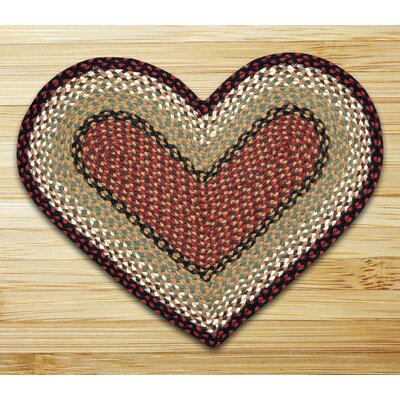 Braided Burgundy/Mustard Area Rug Rug Size: Novelty 18 x 26
