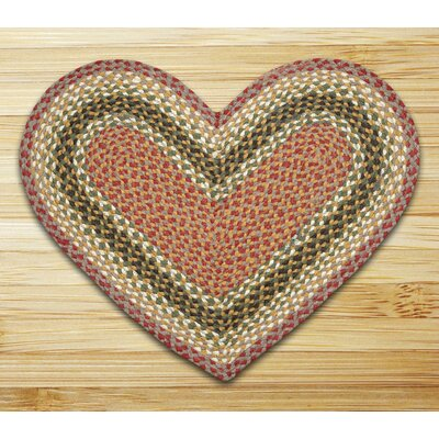 Braided Olive/Burgundy Area Rug Rug Size: Novelty 18 x 26